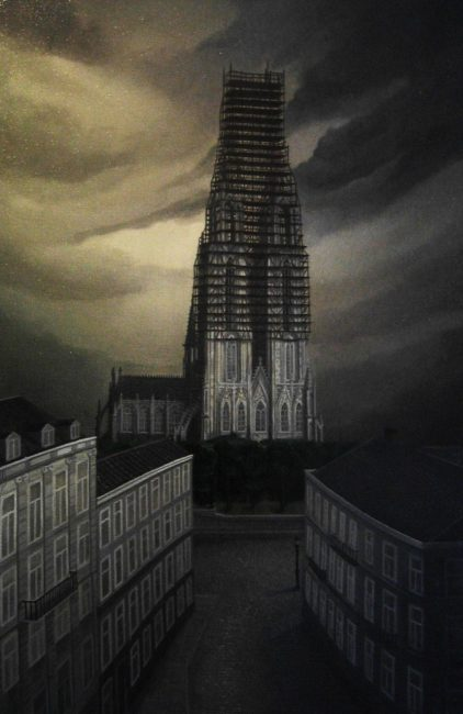 Cologne's cathedral under construction