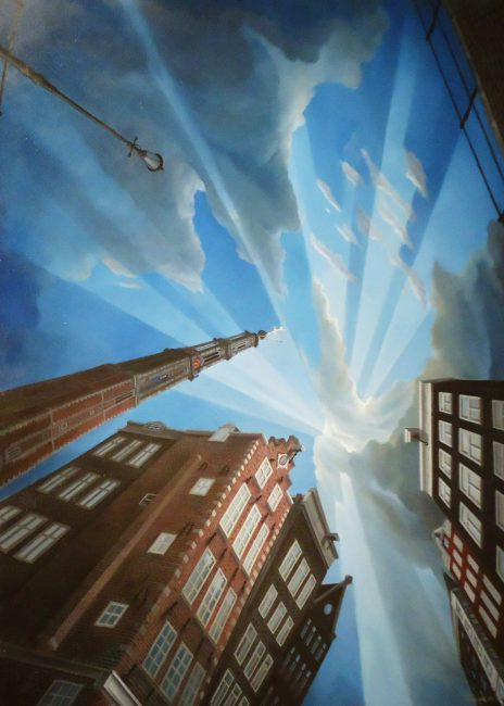 Westtower Amsterdam in sunlight